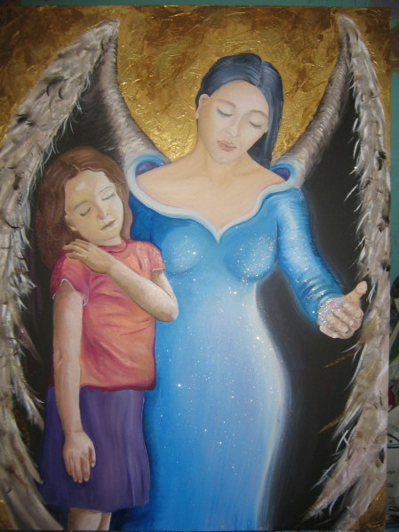 """""""Comfort in time of need"""" Artwork by Francine Commeigne"""