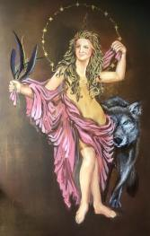 Greek Goddess_www.blueraypaintings.com